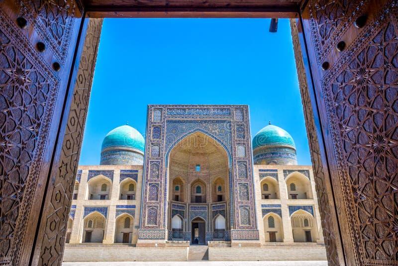 Mir ja Arabski madrassa, Bukhara obraz stock