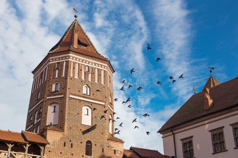 Mir kasztel, jeden góruje Grodno region, Białoruś fotografia royalty free