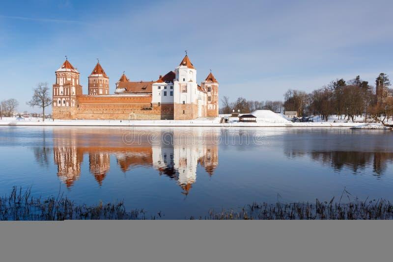 Mir kasztel w Minsk regionie jest antycznym dziedzictwem Białoruś Unesco światowe dziedzictwo zdjęcia stock