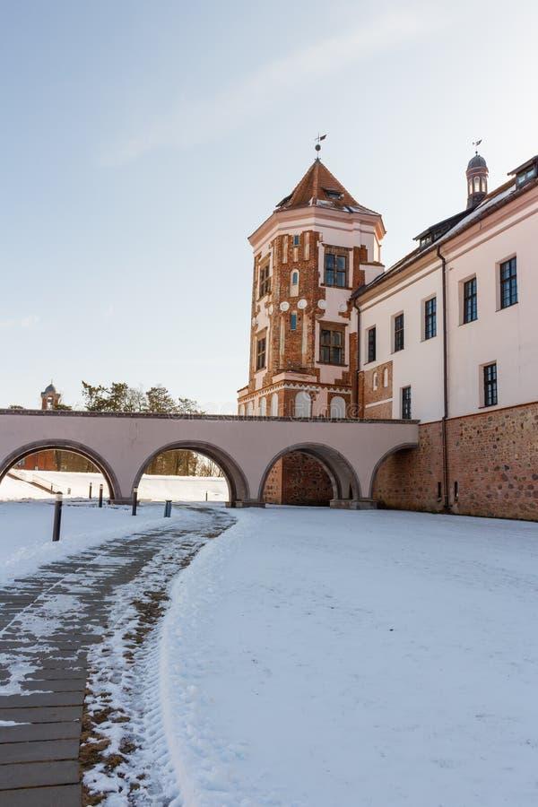Mir kasztel w Minsk regionie jest antycznym dziedzictwem Białoruś Unesco światowe dziedzictwo obrazy stock
