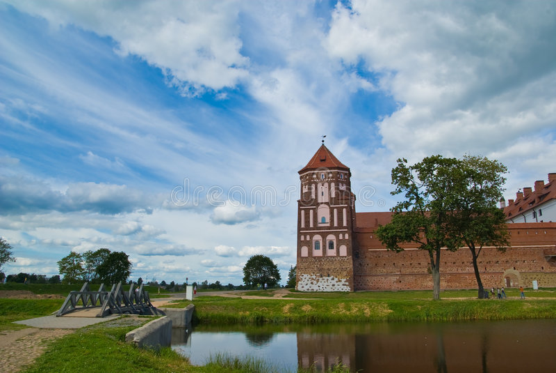 MIR-Schloss-Komplex stockbilder