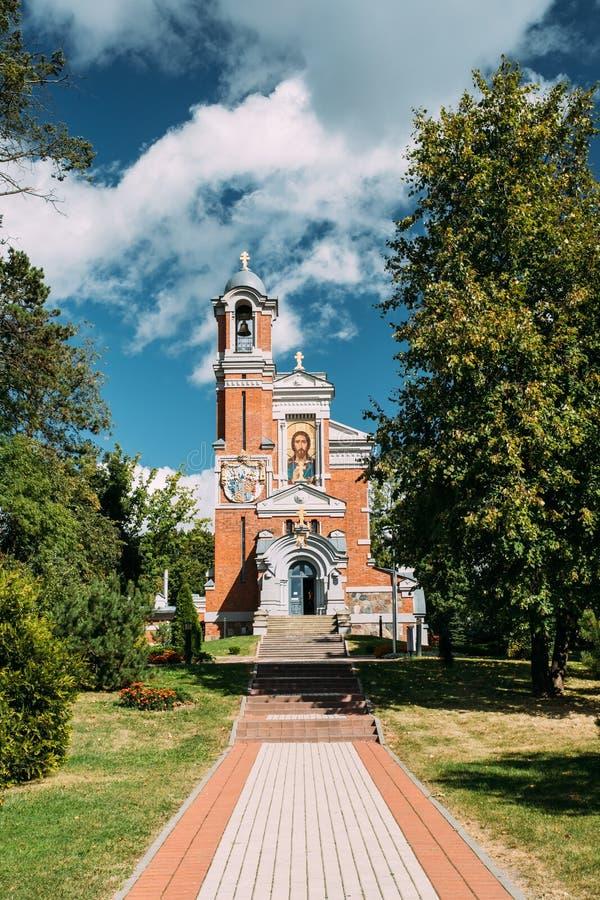 MIR, Weißrussland Kapelle-Beerdigung-Wölbung von Svyatopolk-mirskyfamilie sonnig stockbilder