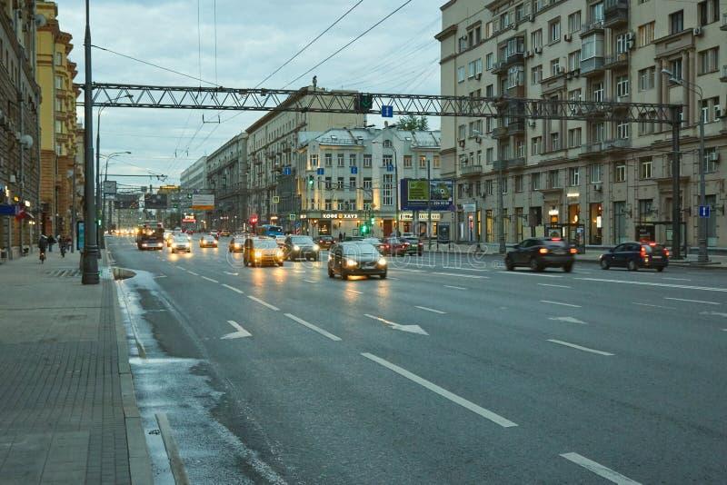 Mira Avenue in Moskou stock afbeelding