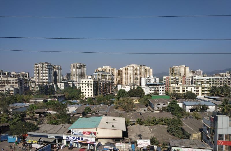 Mira väg, Indien arkivfoto