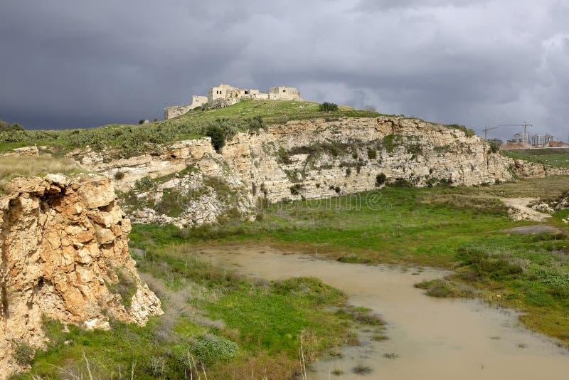 Mirabel Castle καταστροφές, Ισραήλ στοκ εικόνα με δικαίωμα ελεύθερης χρήσης