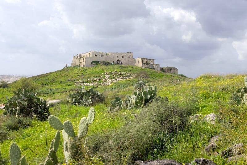 Mirabel Castle καταστροφές, Ισραήλ στοκ φωτογραφία