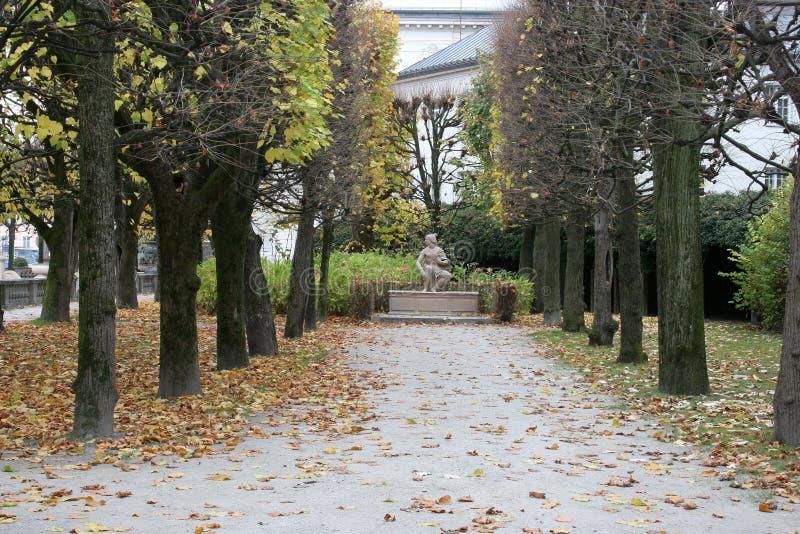 Mirabell宫殿和庭院在萨尔茨堡 免版税图库摄影