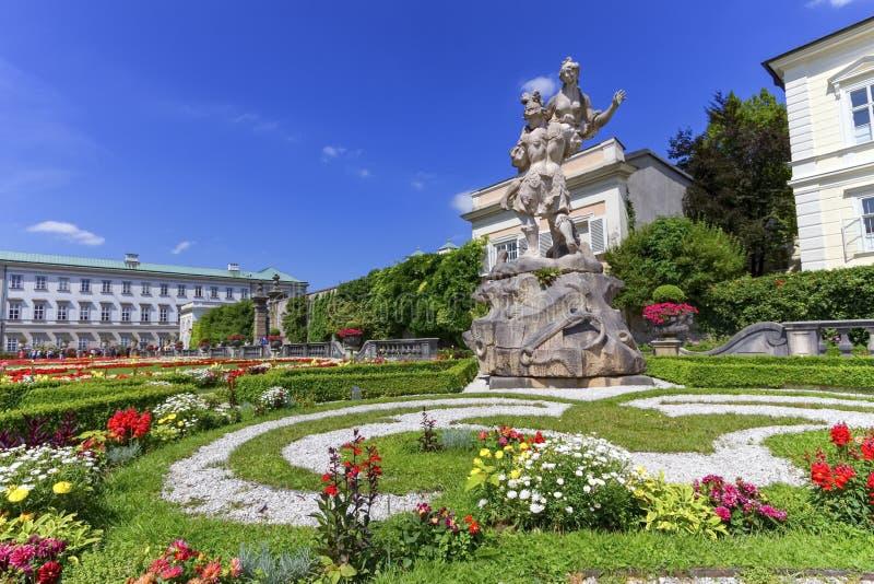 Mirabell宫殿和庭院,萨尔茨堡,奥地利 库存照片