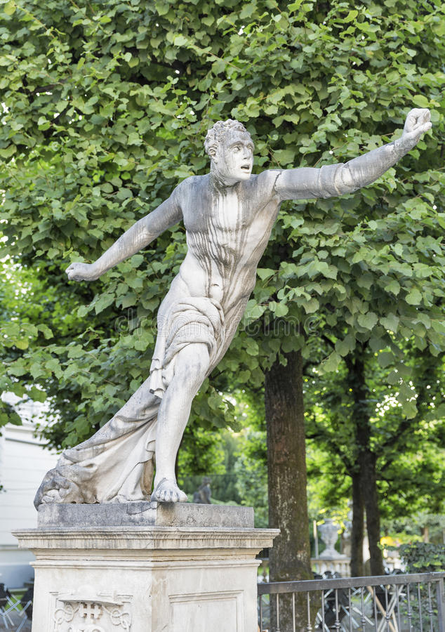 Mirabell garden statue in Salzburg, Austria royalty free stock photography