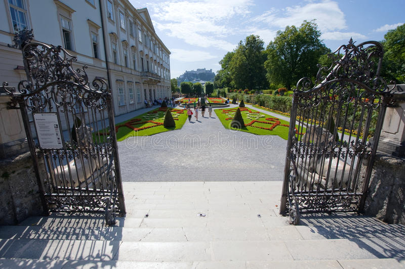 Mirabell gardens royalty free stock photos