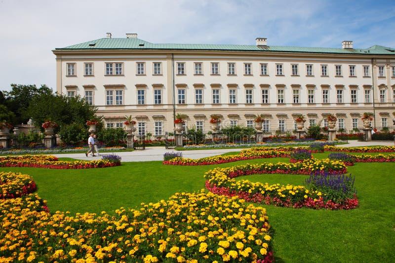 Mirabell gardens in salzburg stock photography
