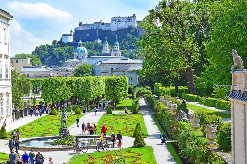 Mirabell Palace and Gardens in Salzburg, Austria royalty free stock photos