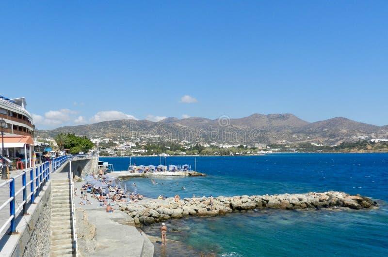 Mirabello bay in Agios Nikolaos, Crete royalty free stock photo