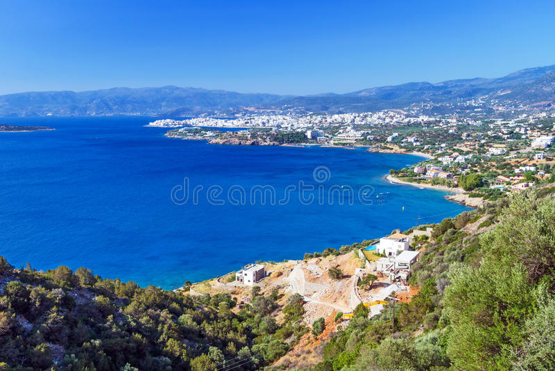Download Mirabello Bay With Agios Nikolaos Town On Crete Royalty Free Stock Photo - Image: 29891815