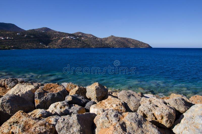 Mirabello Bucht stockbild