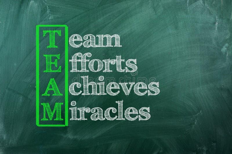 Miracle d'équipe images libres de droits
