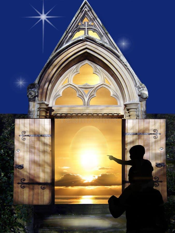 Miracle de matin de Pâques. illustration stock