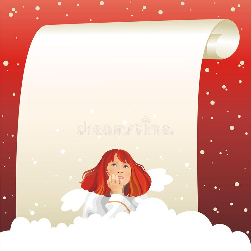 Download Miracle Expectation. Angel And Christmas. Stock Vector - Image: 11509830
