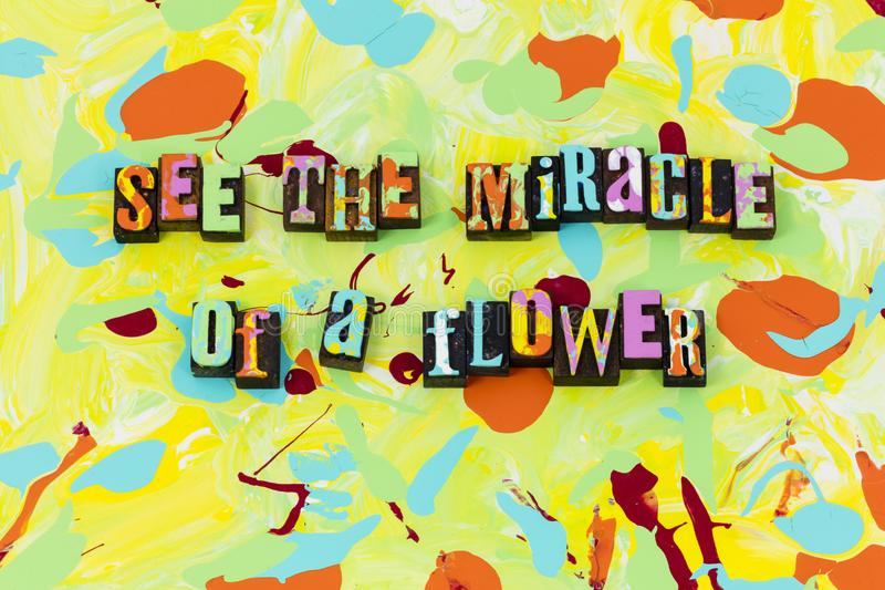 Miracle flower nature natural purity believe beautiful royalty free illustration