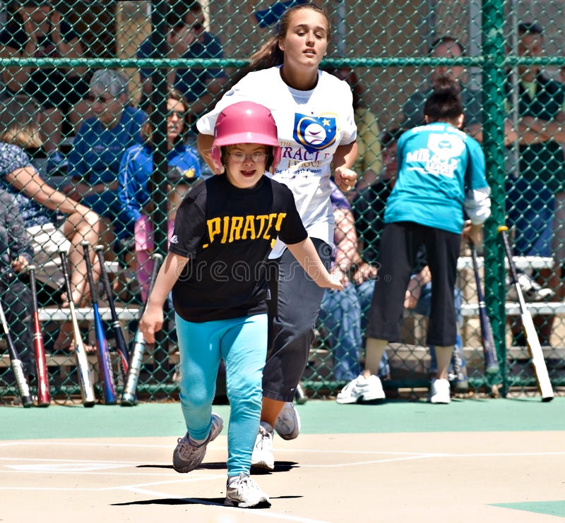 Miracle League Softball For Handicapped Children Editorial Photo