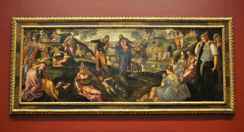 Download The Miracle Of Loaves And Fishes, By Tintoretto Editorial Photo - Image: 22390081