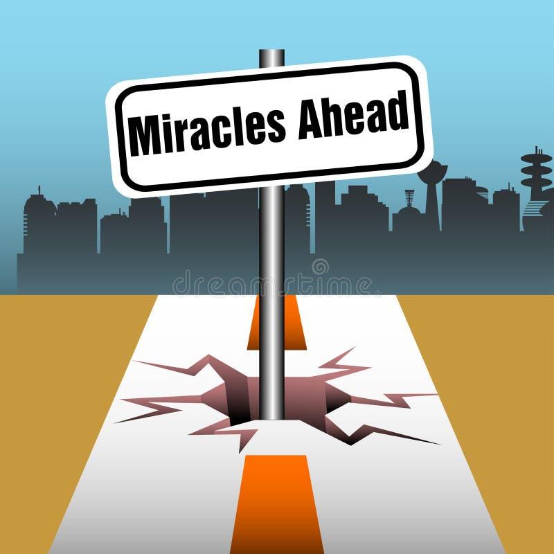 Miracles ahead royalty free illustration