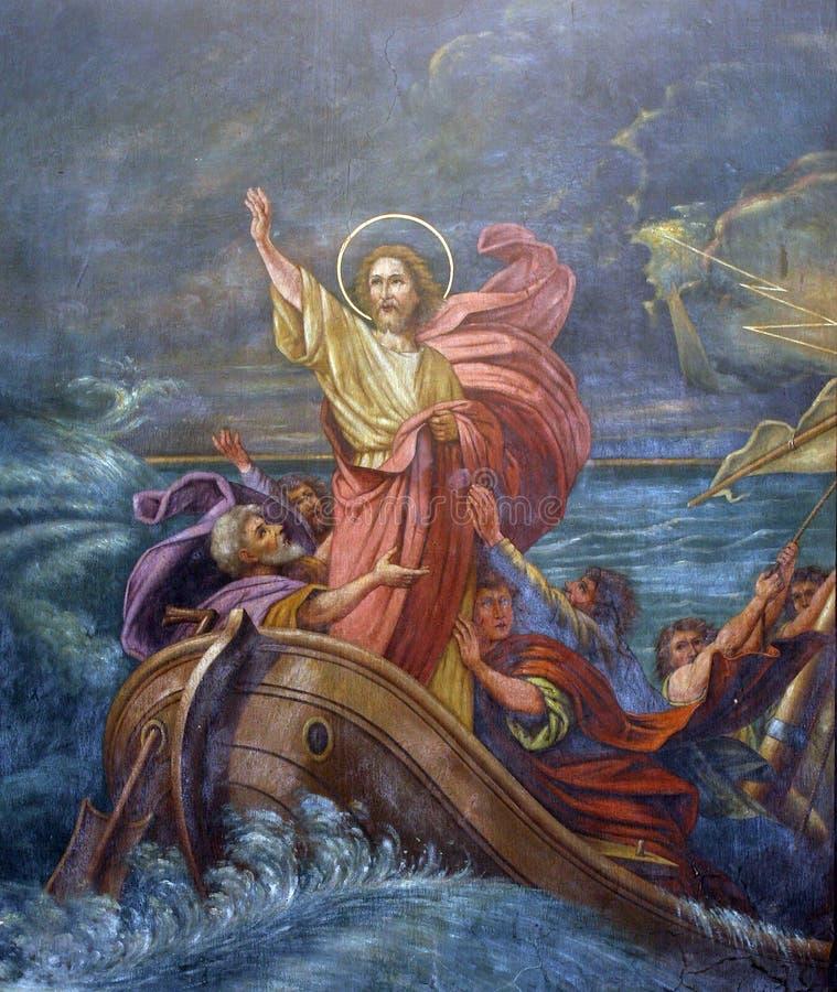 Miracolo del ` di Gesù fotografie stock libere da diritti
