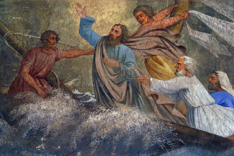 Miracolo del ` di Gesù fotografie stock