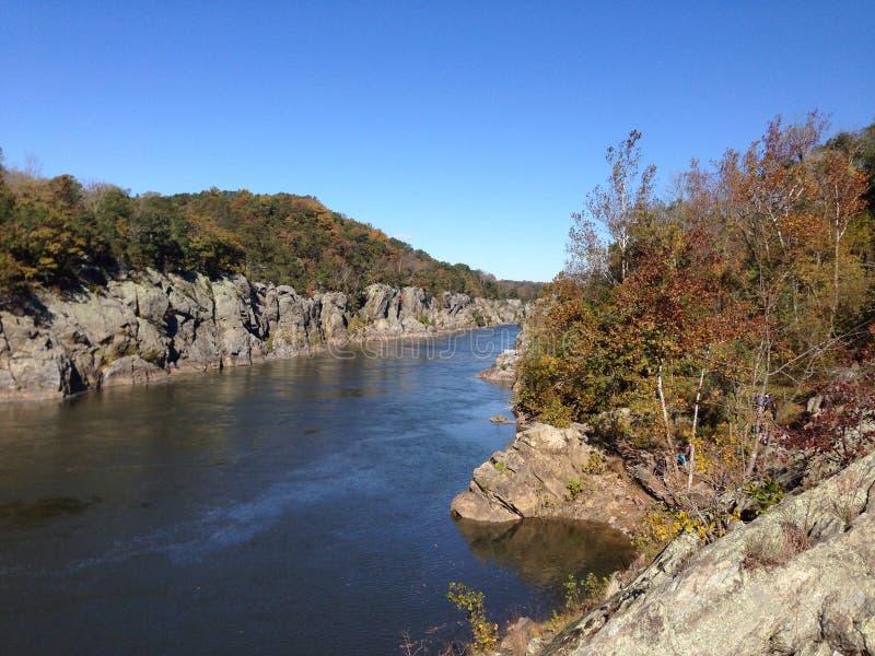 Mirada abajo del Potomac imagen de archivo