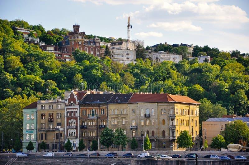 Mirada de la ciudad del parásito cerca de Buda Castle, Hungría imagen de archivo libre de regalías