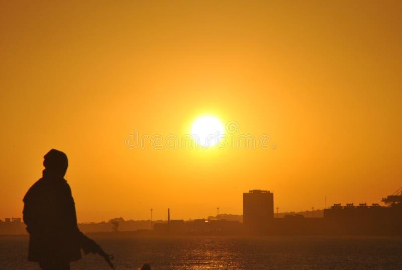 Mirada de la puesta del sol fotos de archivo