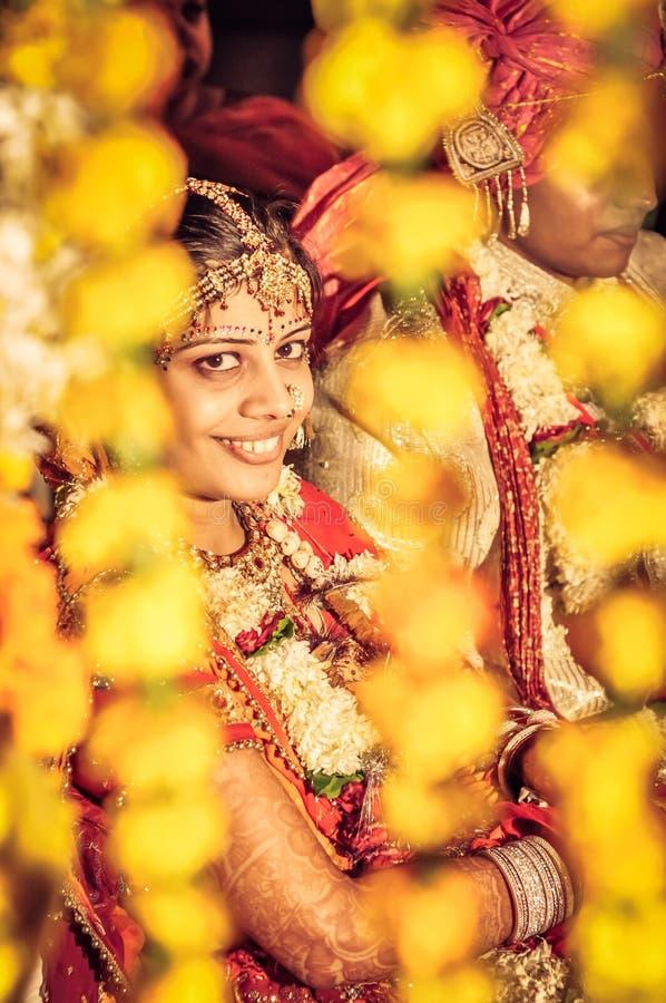 Mirada de las novias en Rajasthán fotografía de archivo libre de regalías