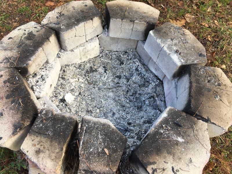 Mirada en un hoyo de la quemadura foto de archivo