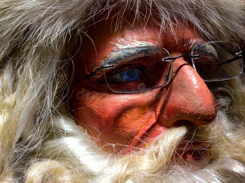 Mirada fija de Papá Noel imágenes de archivo libres de regalías