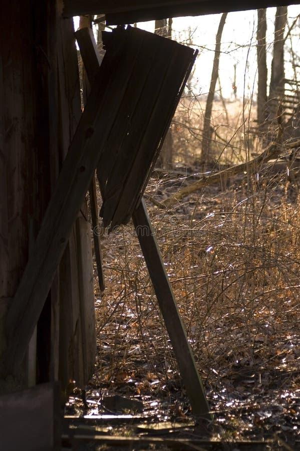 Mirada hacia fuera o El granero fotos de archivo
