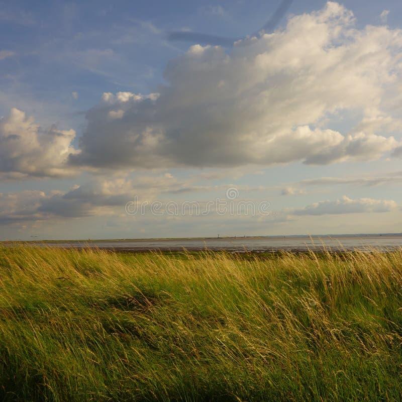 Mirada a través del estuario de Humber para despreciar la cabeza imagen de archivo libre de regalías