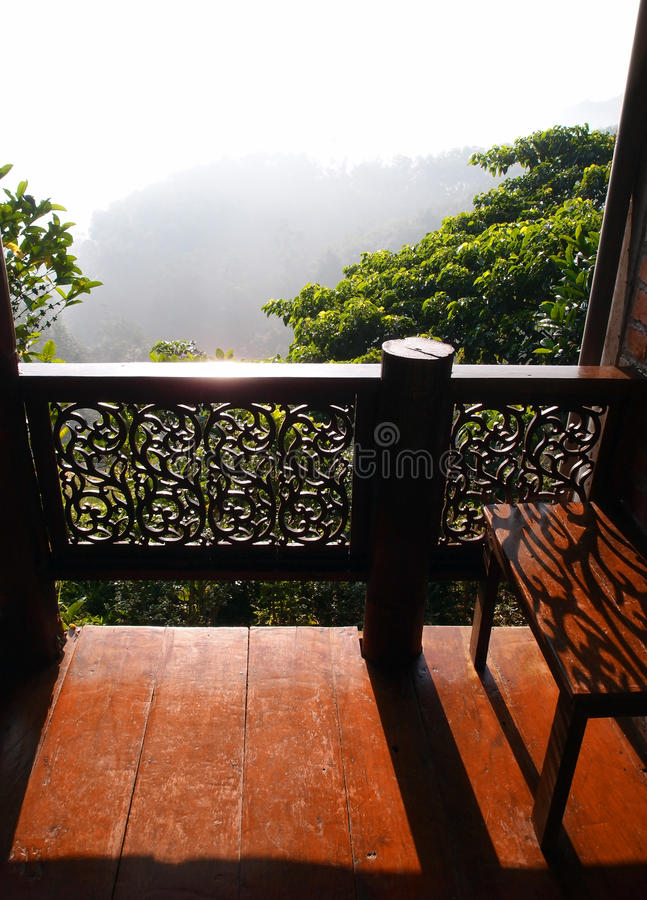 Mirador con la visión, casa tailandesa fotos de archivo libres de regalías