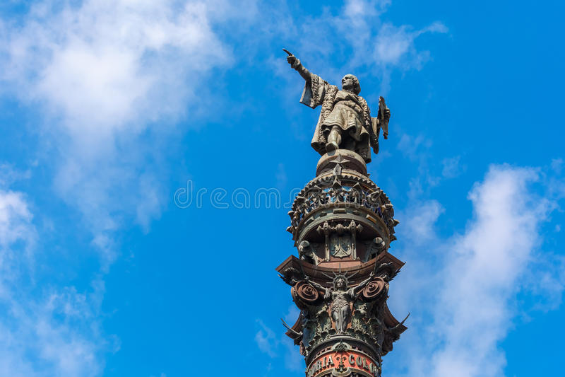 Mirador de Colom in Barcelona, Spain royalty free stock photo