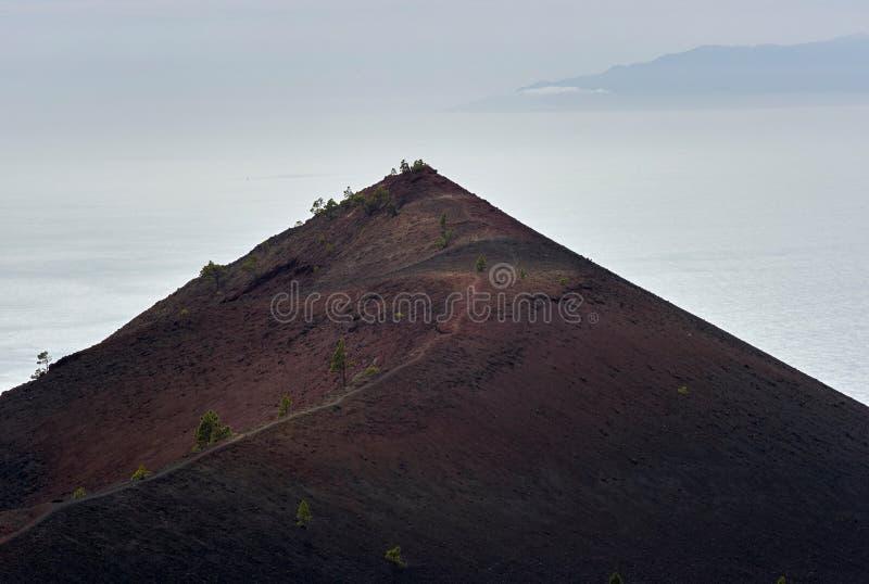 Mirador de montana Cabrito, La Palma arkivbilder