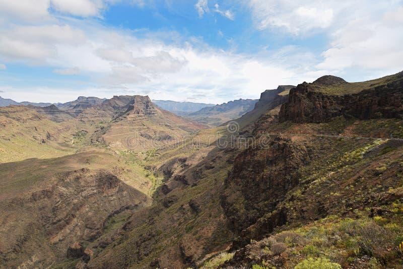 Mirador Degollada de Las Yeguas Gran Canaria fotografia de stock royalty free
