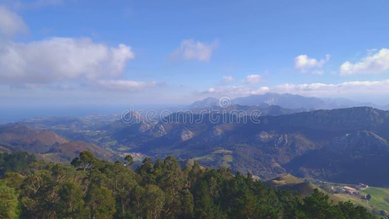 Mirador del Fito Asturias stock foto's