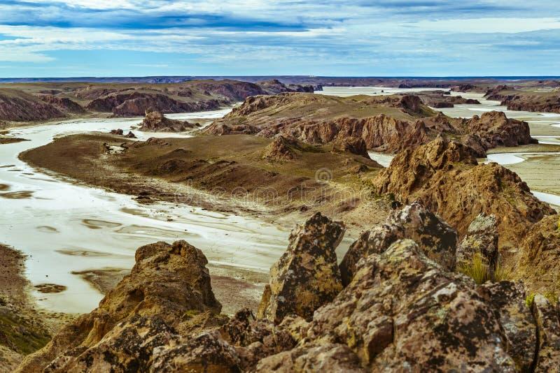 Miradores de Darwin, Santa Cruz Argentyna obraz royalty free