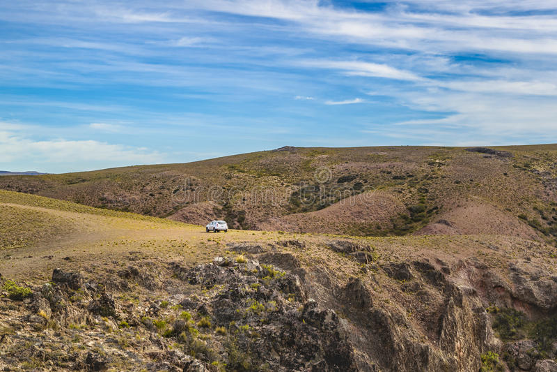 Miradores de Darwin, Santa Cruz Argentyna zdjęcie stock