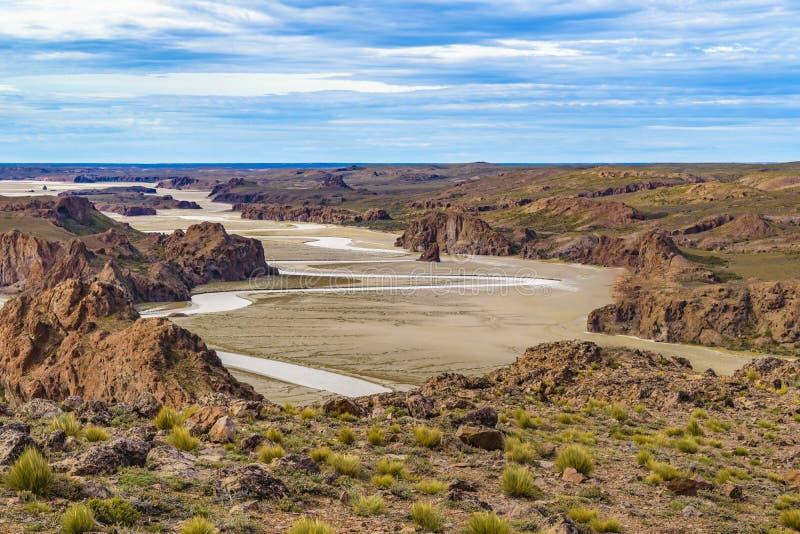 Miradores de Darwin, Santa Cruz Argentyna fotografia royalty free