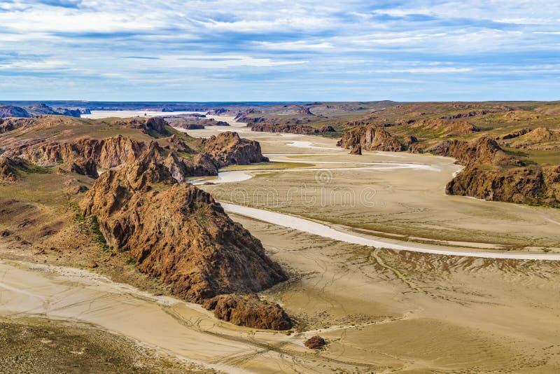 Miradores de Darwin, Santa Cruz Argentyna zdjęcia stock
