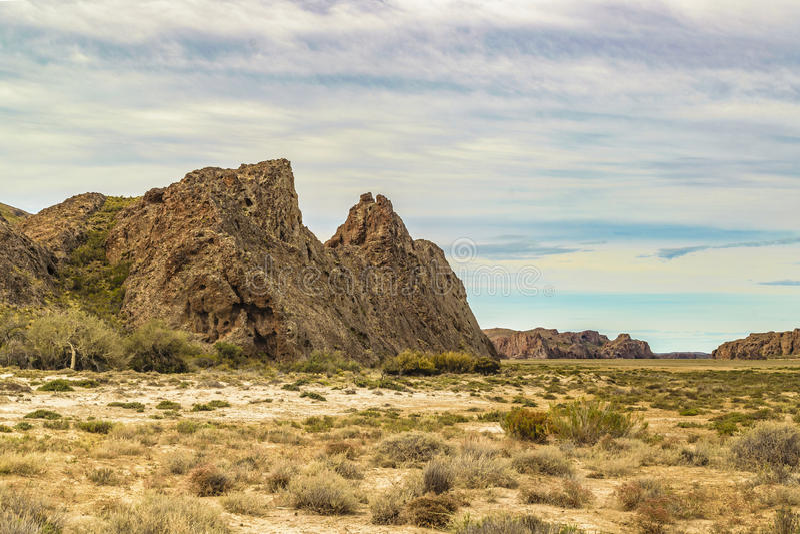 Miradores de Darwin, Santa Cruz Argentyna obraz stock