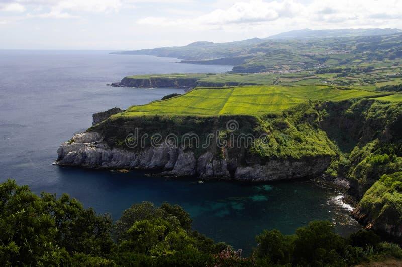 Miradouro de Santa Iria, Ilha do Sao Miguel, Azore στοκ εικόνες