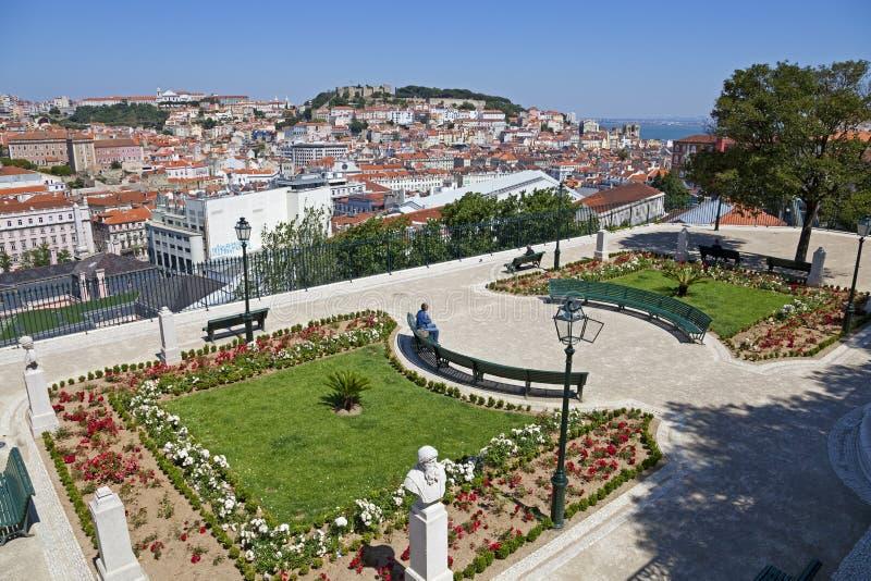 Miradouro de Sao Pedro de Alcantara Lisbon royaltyfri foto