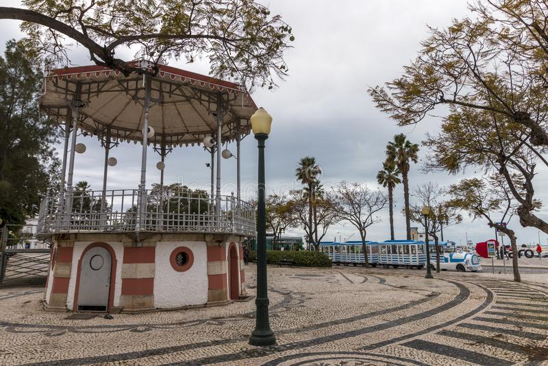miradouro histórico bonito da cidade de Faro fotografia de stock