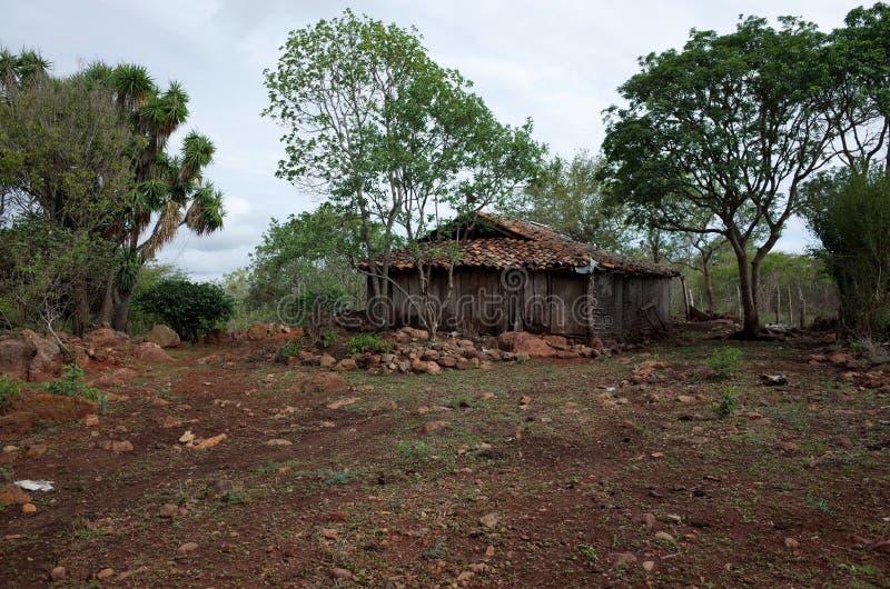 Miraflor Nature Reserve. A small farm building in the Miraflor Nature Reserve near Esteli, Nicaragua stock image